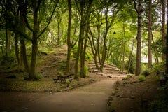 Een mooie mening van het park van Lancaster stock afbeelding