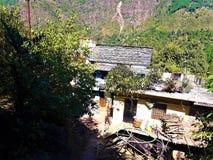 Een Mooie mening van Indische Dorpshuizen royalty-vrije stock foto's