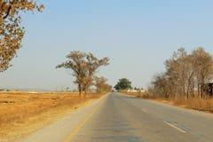 Een mooie mening van landweg stock foto