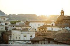 Mening van Rome van Campidoglio Stock Foto's