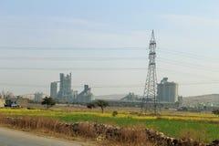 Een mooie menings industriële plaats en gebieden stock afbeelding