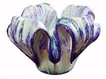 Een mooie met de hand gemaakte bloempot stock afbeeldingen
