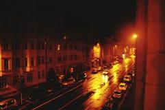 Een mooie nacht in Leipzig & x28; Germany& x29; royalty-vrije stock fotografie