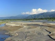 Een mooie Palu-rivier tijdens het regenachtige seizoen Royalty-vrije Stock Foto's