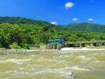 Een mooie Palu-rivier tijdens het regenachtige seizoen Royalty-vrije Stock Afbeelding