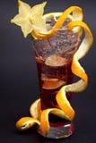 Een mooie rode cocktail Stock Afbeelding
