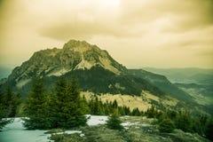 Een mooie Rozsutec-bergmening van Mala Fatra in Slowakije Royalty-vrije Stock Fotografie