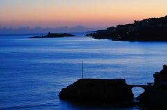 Een mooie schemersamenstelling in Mallorca, Spanje Stock Afbeelding