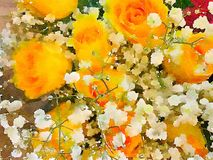 Een Mooie Vaas van Bloemen stock afbeelding