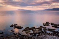 Een mooie vreedzame ochtend in Rijeka, Kroatië Royalty-vrije Stock Afbeeldingen