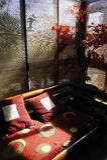 Een mooie woonkamer - met mooi licht Stock Afbeelding