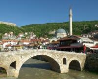 Een Mooie Zonnige dag in de Oude Stad van Prizren, Kosovo Royalty-vrije Stock Foto's