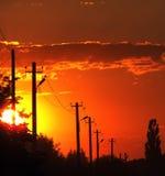Een mooie zonsondergang Stock Afbeelding