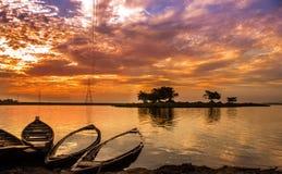 Een mooie zonsondergang royalty-vrije stock afbeeldingen