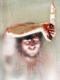 Een moordenaar let op royalty-vrije stock foto