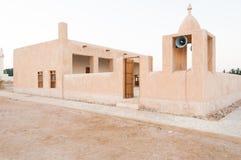 Een moskee op een strand (Simaisma) in Doha, Qatar Royalty-vrije Stock Foto