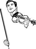 Een musicus met viool stock illustratie