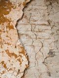 Een muur met humeurige oranje kleur. Royalty-vrije Stock Foto