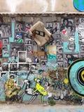 Een muurkunst in Gr Gotic Stock Afbeeldingen