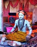 Een mystieke sadhu in grote kumbhmela 2016, Ujjain India Royalty-vrije Stock Afbeelding