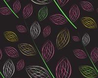Een naadloos bladpatroon Stock Foto