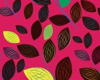 Een naadloos bladpatroon Stock Afbeelding