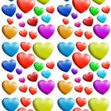 Een naadloos kleurrijk hartpatroon stock illustratie