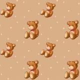 Een naadloos ontwerp met teddyberen Stock Fotografie