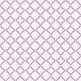 Een naadloos patroon in grijs en roze Met vierkanten In waterverf Stock Afbeelding