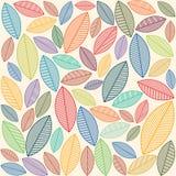 Een naadloos patroon met bladeren Stock Fotografie