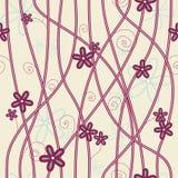 Een naadloos patroon met bloemen Royalty-vrije Stock Afbeelding