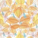 Een naadloos patroon met de herfstbladeren Stock Afbeelding
