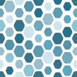 Een naadloos patroon van rond gemaakte zeshoeken van verschillende grootte Koude B stock illustratie