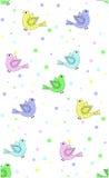 Een naadloos patroon van vogels Royalty-vrije Stock Foto
