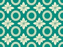Een naadloos vectorpatroon in een uitstekende stijl Alleen bevroren boom Royalty-vrije Stock Afbeelding