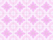 Een naadloos vectorpatroon in een uitstekende stijl Alleen bevroren boom speld Stock Afbeelding