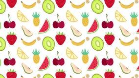 Een naadloze animatie van het fruitpatroon royalty-vrije illustratie
