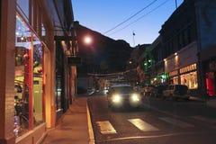 Een Nacht in Bisbee tijdens de Vakantie Royalty-vrije Stock Fotografie