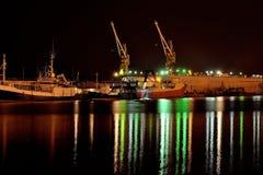 Een nacht in de haven Royalty-vrije Stock Afbeeldingen