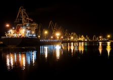 Een nacht in de haven Stock Fotografie