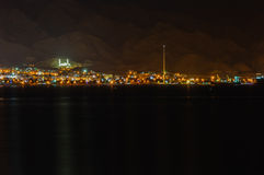 Een nacht kijkt aan Aqabah van Eilat Stock Afbeeldingen