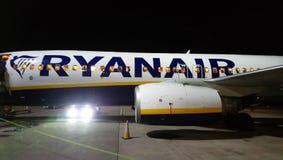 Een nacht met Ryanair royalty-vrije stock fotografie