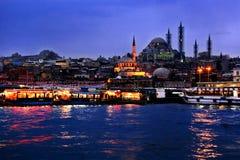 Een nacht van Istanboel Royalty-vrije Stock Afbeeldingen