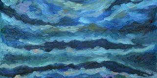Een nachthemel met kleurrijke wolken royalty-vrije illustratie