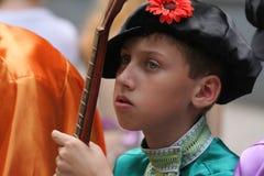 Een nadenkende jonge pandora speler Royalty-vrije Stock Afbeelding
