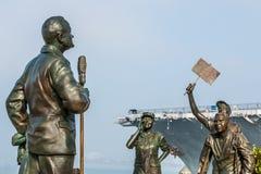 ` Een Nationale Begroeting aan het Gedenkteken van Bob Hope ` in San Diego stock afbeelding