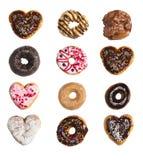 Een net van donuts Royalty-vrije Stock Afbeelding