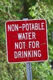 Een niet drinkbaar water, niet voor het drinken van teken royalty-vrije stock fotografie