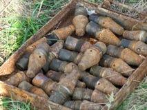 Een niet ontplofte bom van Wereldoorlog II stock foto's