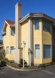 Moderne Huizen in de stad Royalty-vrije Stock Afbeelding